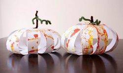 Paper Pumpkin Globes