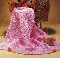 Pink Petals Baby Afghan