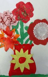 Paint and Paper Valentine's Day Bouquet