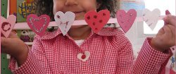 Quick and Easy Paper Heart Garland