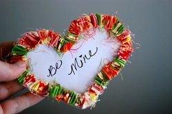 I Heart Ruffles Paper Valentine