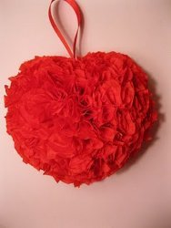 Rose Petal Heart Ornament