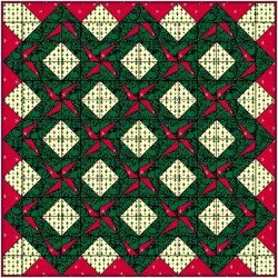 Paper Pieced Christmas Wreath Quilt