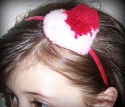 Pom Pom Heart Headband