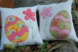 Fabric Scrap Easter Cushions