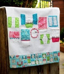 Pretty Windows Dishtowel