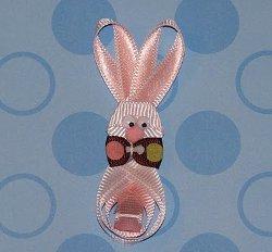 Ribbon Bunny Hair Clip