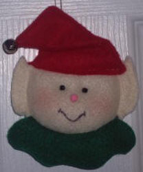 Felt Elf Christmas Ornament