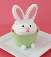 Edible Bunny Ear Cupcake Toppers