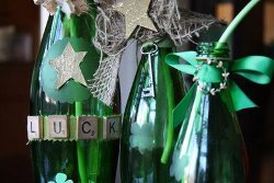 Shamrock Vases from Recycled Bottles