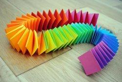 Folded Paper Rainbow Garland