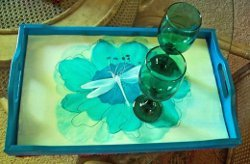 Pretty Painted Tray