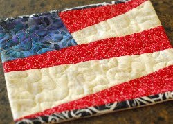 Flag Quilted Mug Rug Pattern