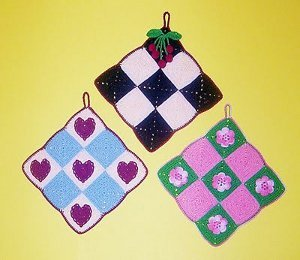 Decorative Checkerboard Potholders