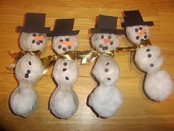 Egg Carton Snowmen