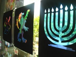 Chanukah Stained Glass Windows