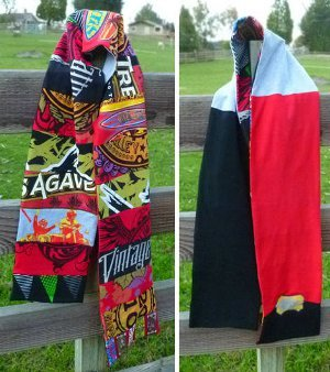 Patchwork T-shirt Scarf