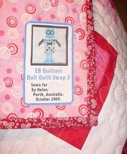 Printed Fabric Quilt Labels