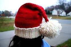 Kids Knit Santa Hat