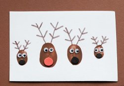 Thumbprint Reindeer Family