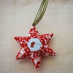 Paper Pieced Holiday Star Ornament