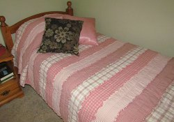 Striped Homespun Rag Quilt