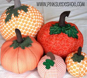 Cute and Cushy Fabric Pumpkins