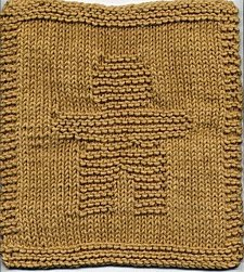 Christmas Gingerbread Man Dishcloth