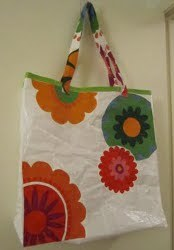 Beach Bag From Recycled Materials