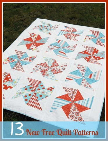 13 New Free Quilt Patterns + 8 Easy Quilt Patterns AllFreeSewing.com