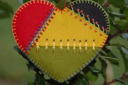 Stitched Heart Ornament