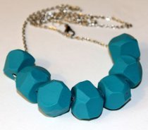Faceted Clay Necklace