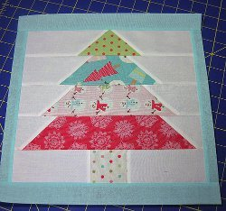 Pieced Christmas Tree Block