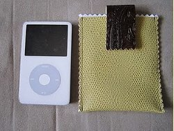 iPod Sleeve from Sample Scraps