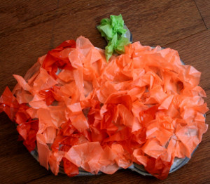 Tissue Paper Witches and Pumpkins