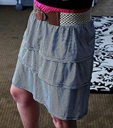 10 Minute Tube Top Dress to Skirt Refashion
