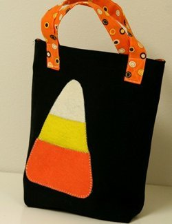 Candy Corn Applique Treat Bag