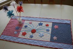 Fireworks in the Kitchen Quilted Table Runner