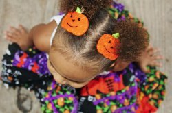 Felt Pumpkin Hair Clips