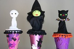 Spooky Pop Up Puppets