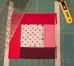 Squaring Blocks with Masking Tape Guidelines