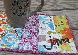 Java Reversible Mug Rug