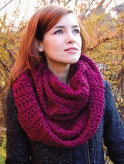 Knitting Patterns For Loop Scarves : 42 Infinity Scarf Patterns to Knit Today AllFreeKnitting.com