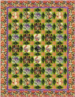 Glorious Garden Floral Quilt
