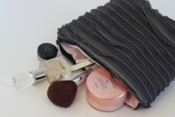 Ruffle Fabric Make Up Bag