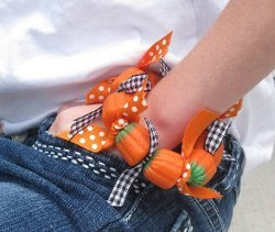 Cute Pumpkin Candy Bracelets
