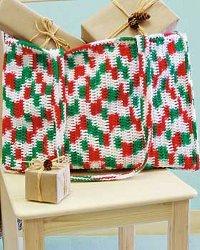 Christmas Crochet Tote Bag