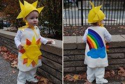 Rainbow and Sunshine Kids Costumes