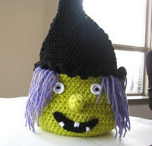 Boo Halloween Witch Basket