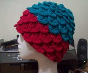 Crochet Crocodile Stitch Adult Hat
